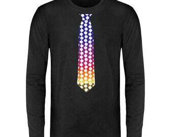 Tie Fake - Colorful Dots Celebration Chic - Unisex Long Sleeve T-Shirt