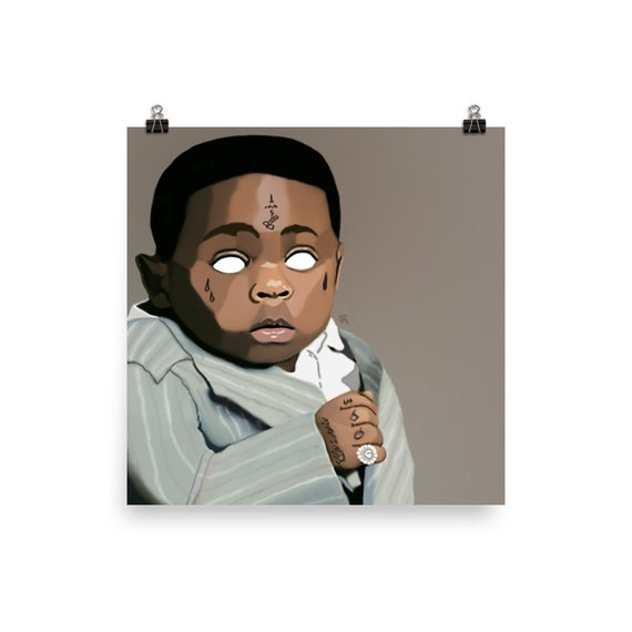 "Lil Wayne Carter V Poster Rap Album Cover Music Art Print 12x12/"" 24x24/"" 32x32/"""