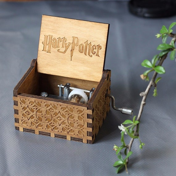 Harry Potter Music Box | Handcrafted Music Box Inspired By Harry Potter | Music Box Playing Harry Potter Theme Tune by Etsy