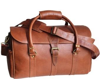 25148b42d745 Leather duffle bag men