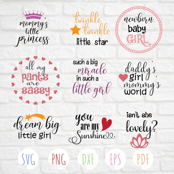 9 Baby girl Svg Baby quotes svg Baby bundle svg Baby newborn svg Svg cut  files You are my sunshine svg Baby shower svg Baby onesie svg