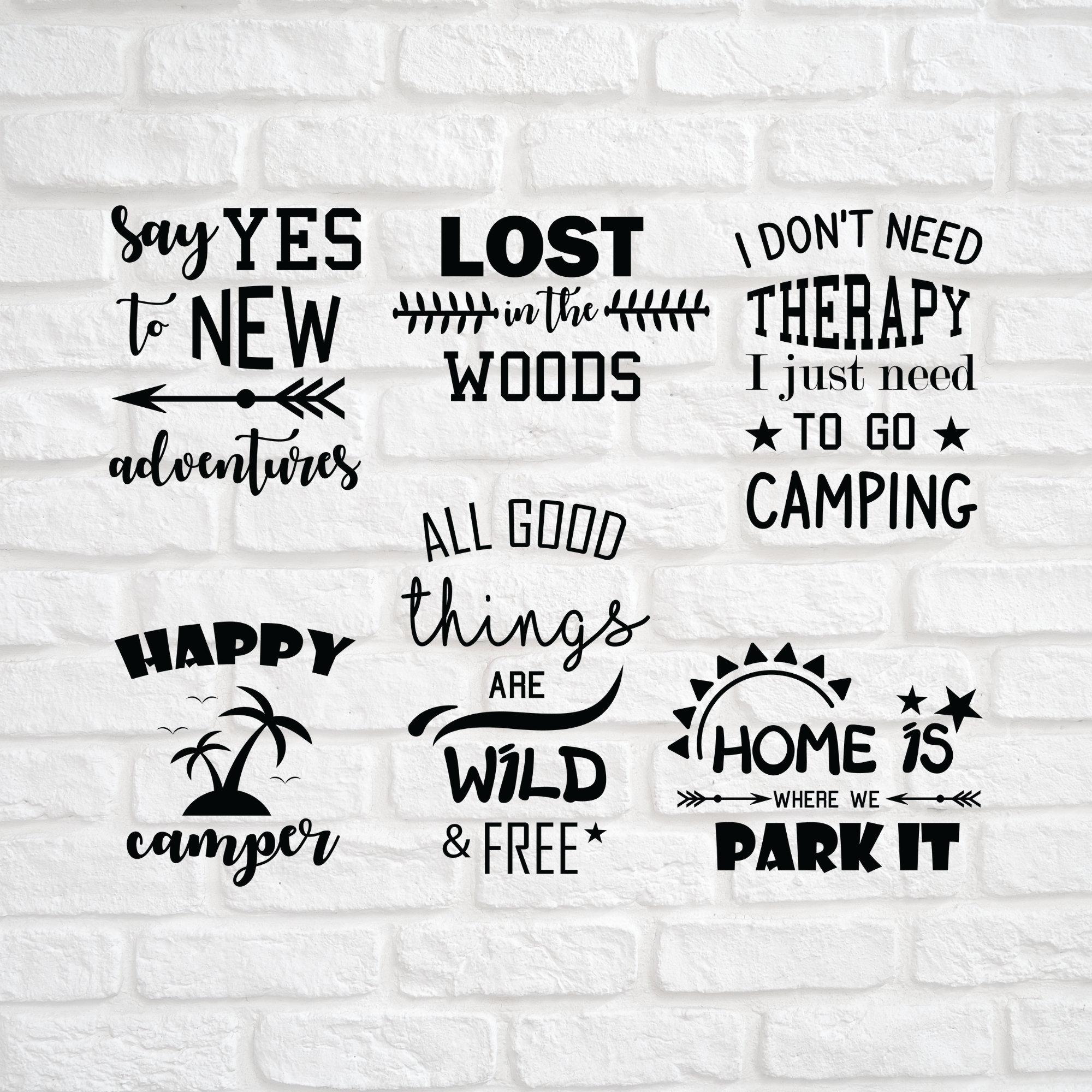 6 Camp Bundle Svg Summer Bundle Svg Camping Svg Signs Etsy