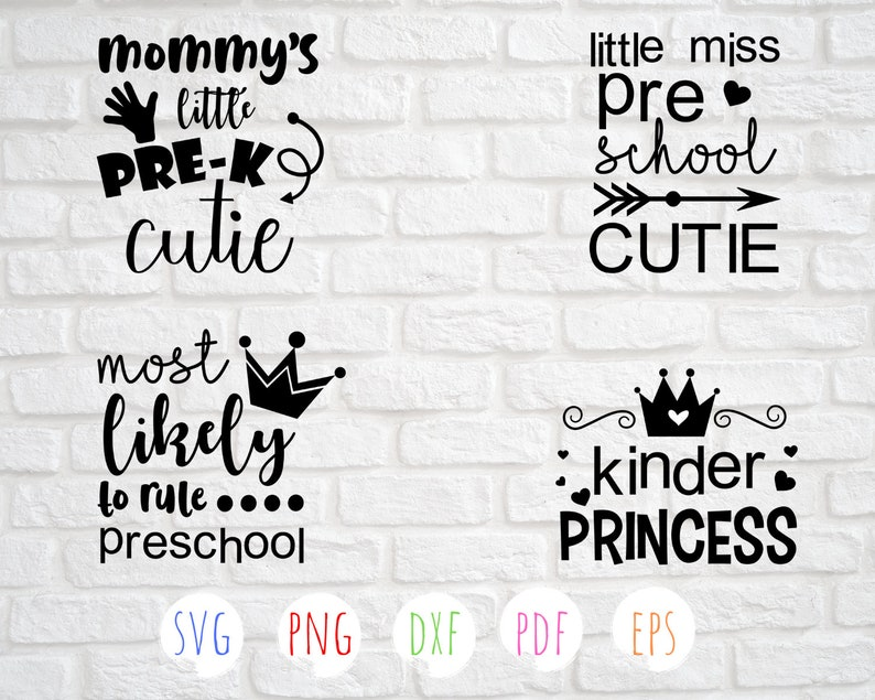 School svg bundle, Preschool svg designs, Kindergarten svg, Back to school  quotes, Files for Cutting Machines - Svg, Dxf, Png, Eps