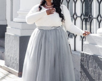 57485552b25 Plus Size Tulle Skirt Long tulle skirt Skirts for women Maxi Skirt Skirts  Wedding Dress Personalized