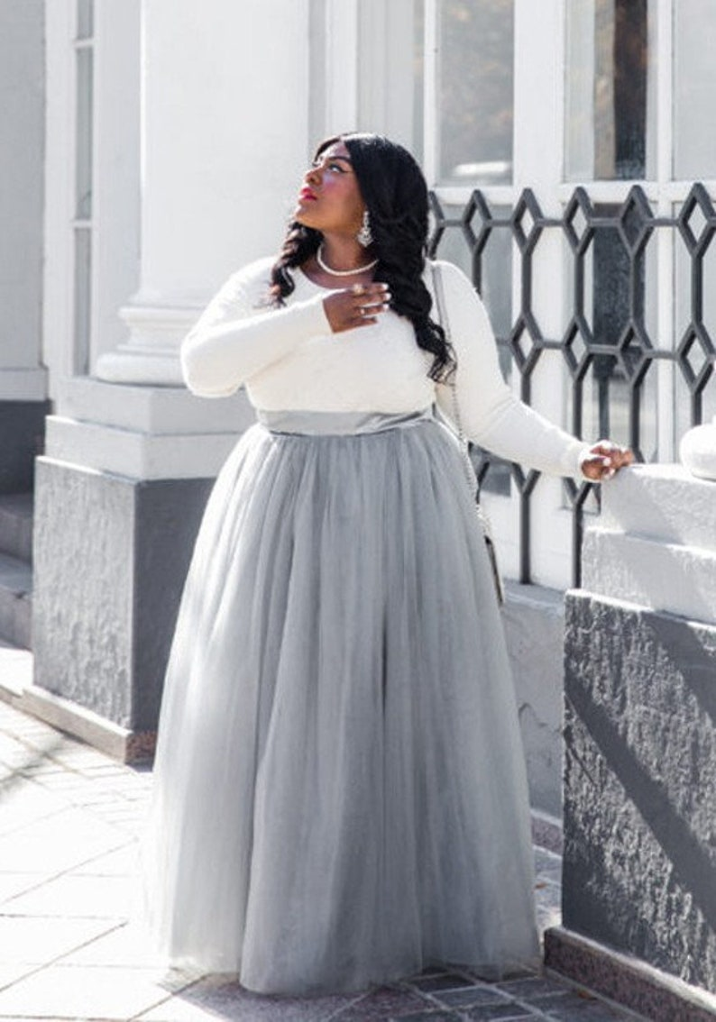 4a389f12e4 Plus Size Tulle Skirt Long tulle skirt Skirts for women Maxi