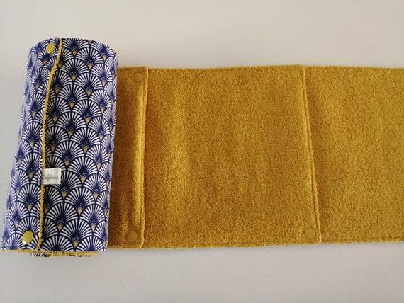 Essuie tout lavable Z/éro d/échet 5 carr/és en tissu coton motif carr/és mosa/ïque et coton nid dabeille