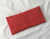 Red with white dots Lavender eye pillow