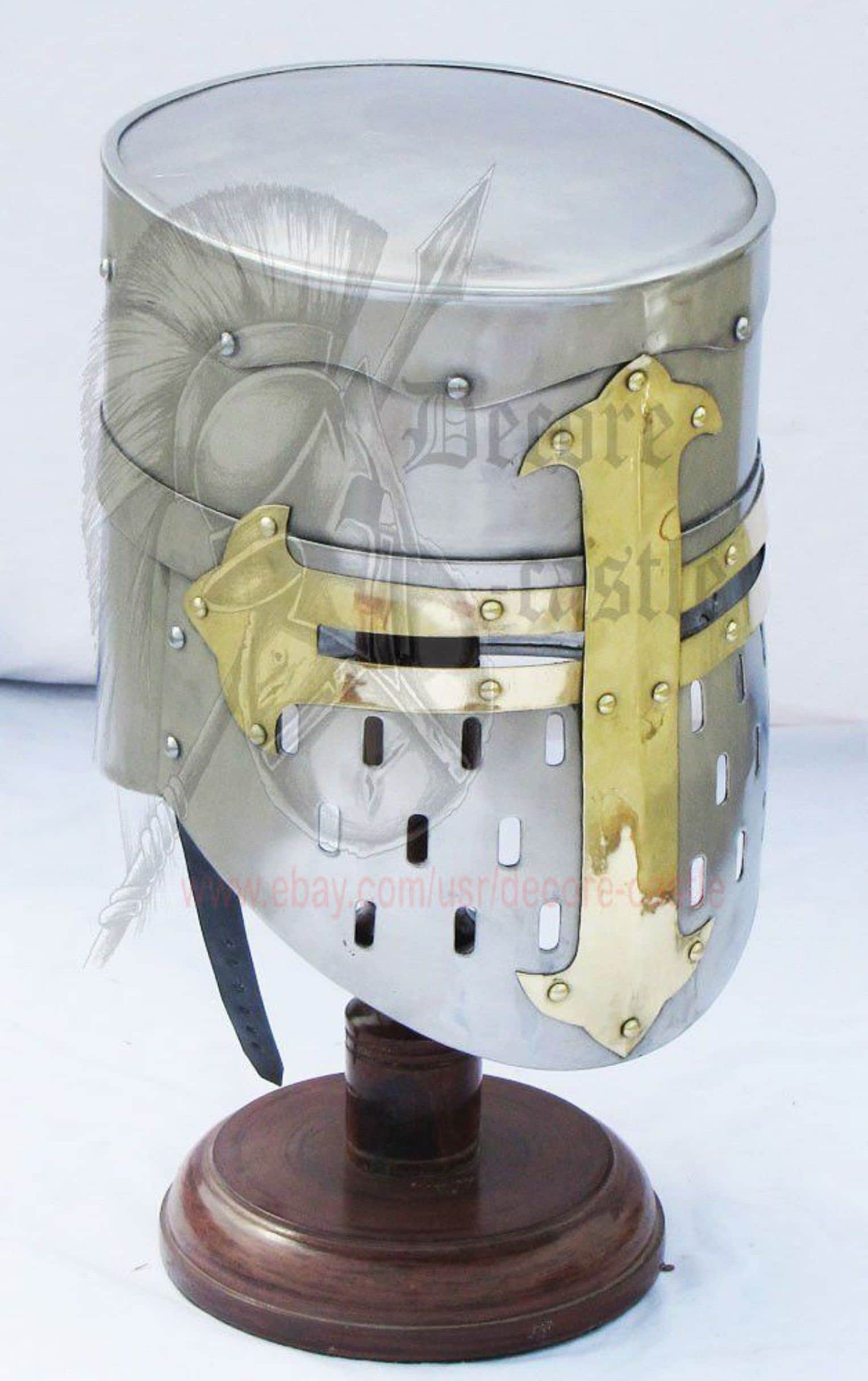 84d745aa8dd3d Crusader Knight Templar Helmet Medieval Armor Roman Fully
