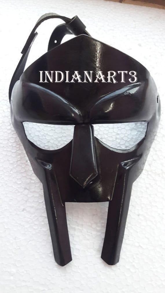 Halloween Gifts//Roman Gladiator Helmet Face Mask //MF Doom Medieval Re enactment//