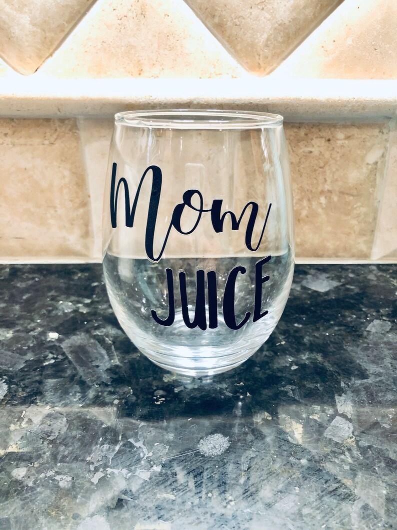 Mom juice mom fuel stemless wine glass and coffee mug. image 2