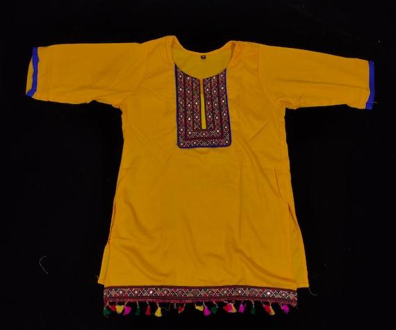 Indian Cotton short kurti handmade kurti Embroidered kurti-Gujarati hand embroidery kurti-Indian kutch hand embroidery kurti top-tunic