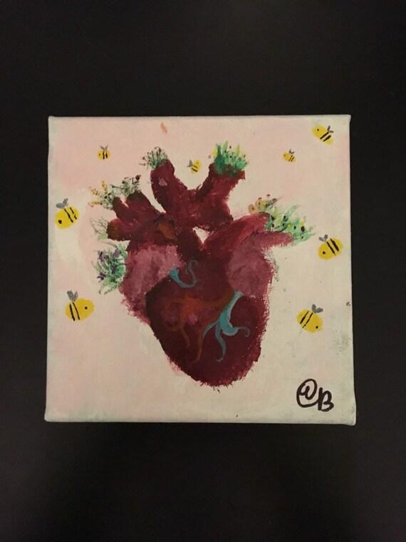 Heart Painting Etsy