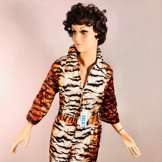 Vintage 1970's Tiger Culotte Jumpsuit DEADSTOCK
