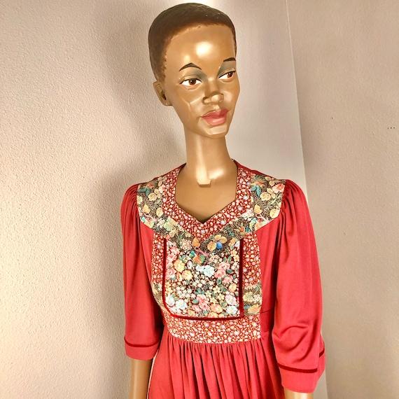 VTG Young Edwardian Boho Floral Dress