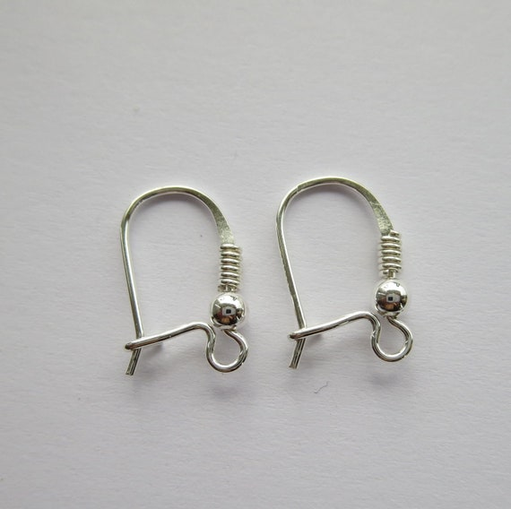 Solid Sterling Silver 925 Kidney Earring Hooks 2-100 pc