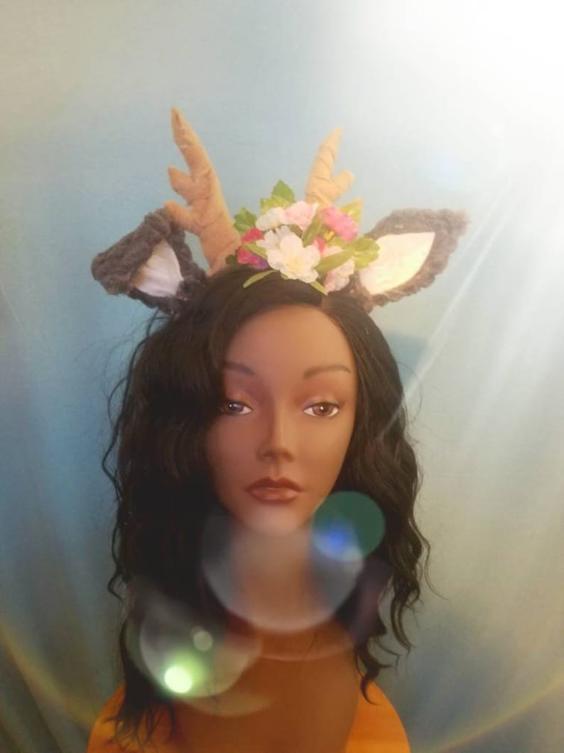 Faun ears with antlers Deer Animal ears Flowers