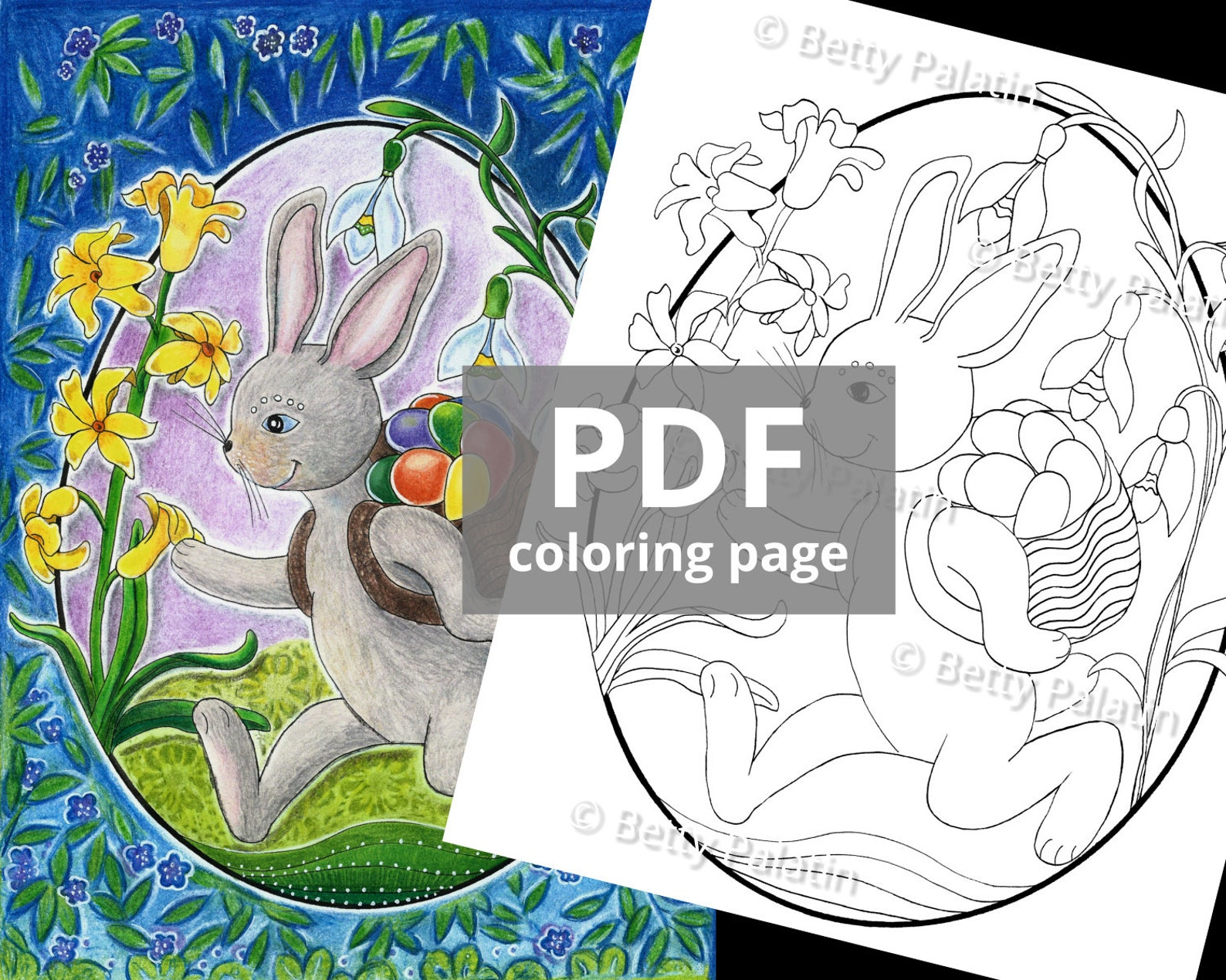 Easter Bunny Instant Digital Download