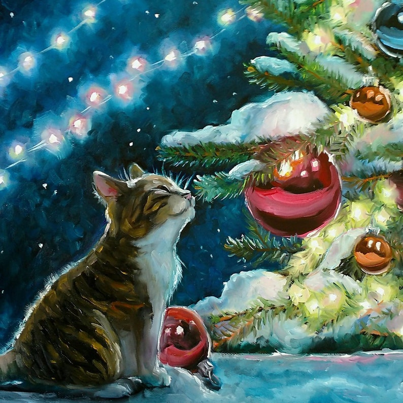 Wooden Puzzles For Adults  A Purr-Fect Christmas  261 Piece image 0