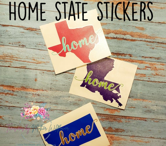 Car Decals Family Car Decal Home Sweet Home Car Stickers Custom Decal Personalized Decal Bumper Sticker