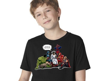 And That's How I Saved The World Jesus Superheroes Youth T-Shirt A