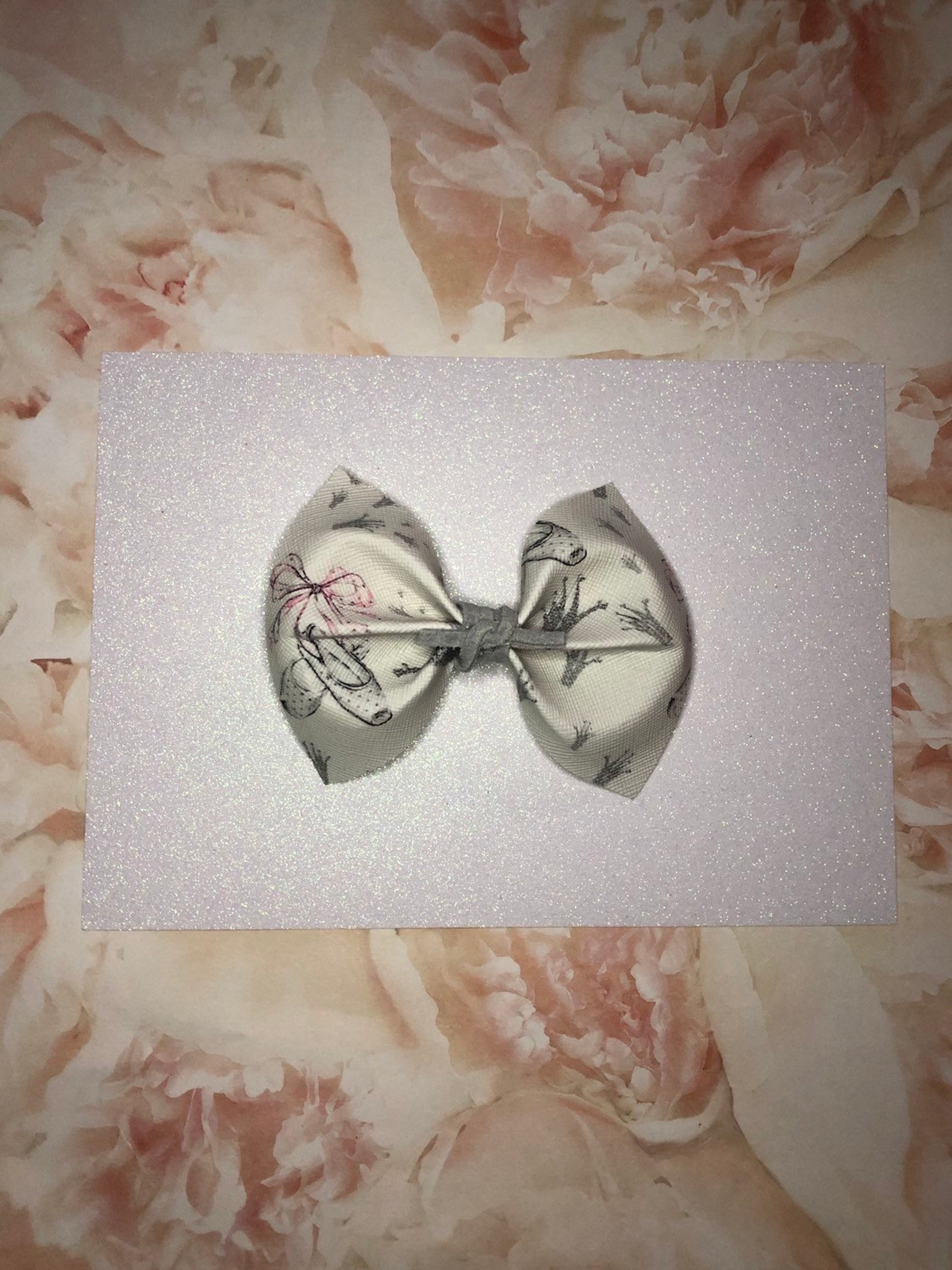 ballet slippers hair bow