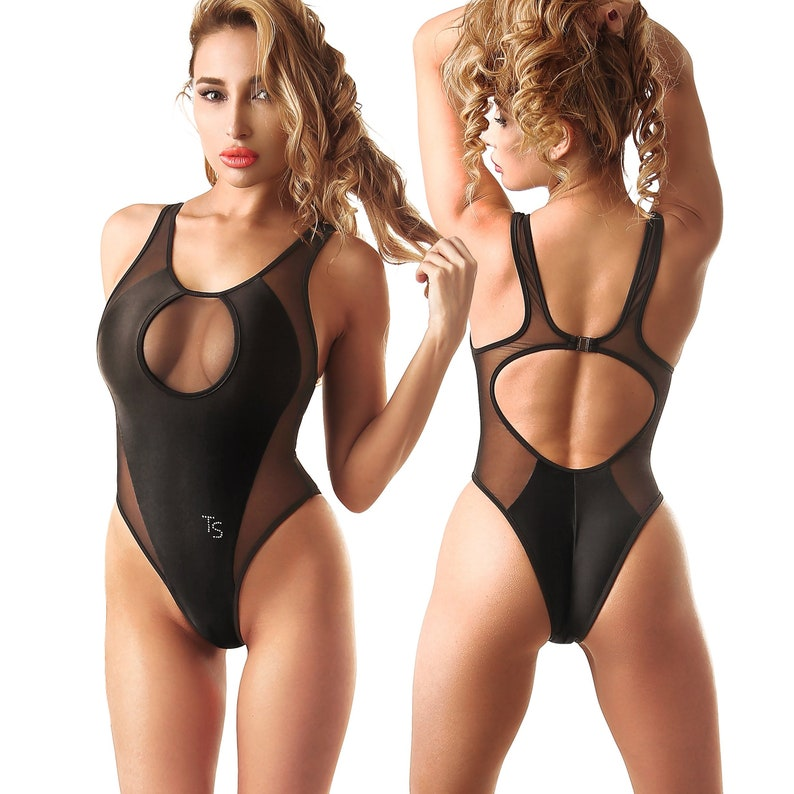 0f59c6f06d4c4 Womens Black One Piece Swimsuit Bodysuit Bathing Suit Monokini