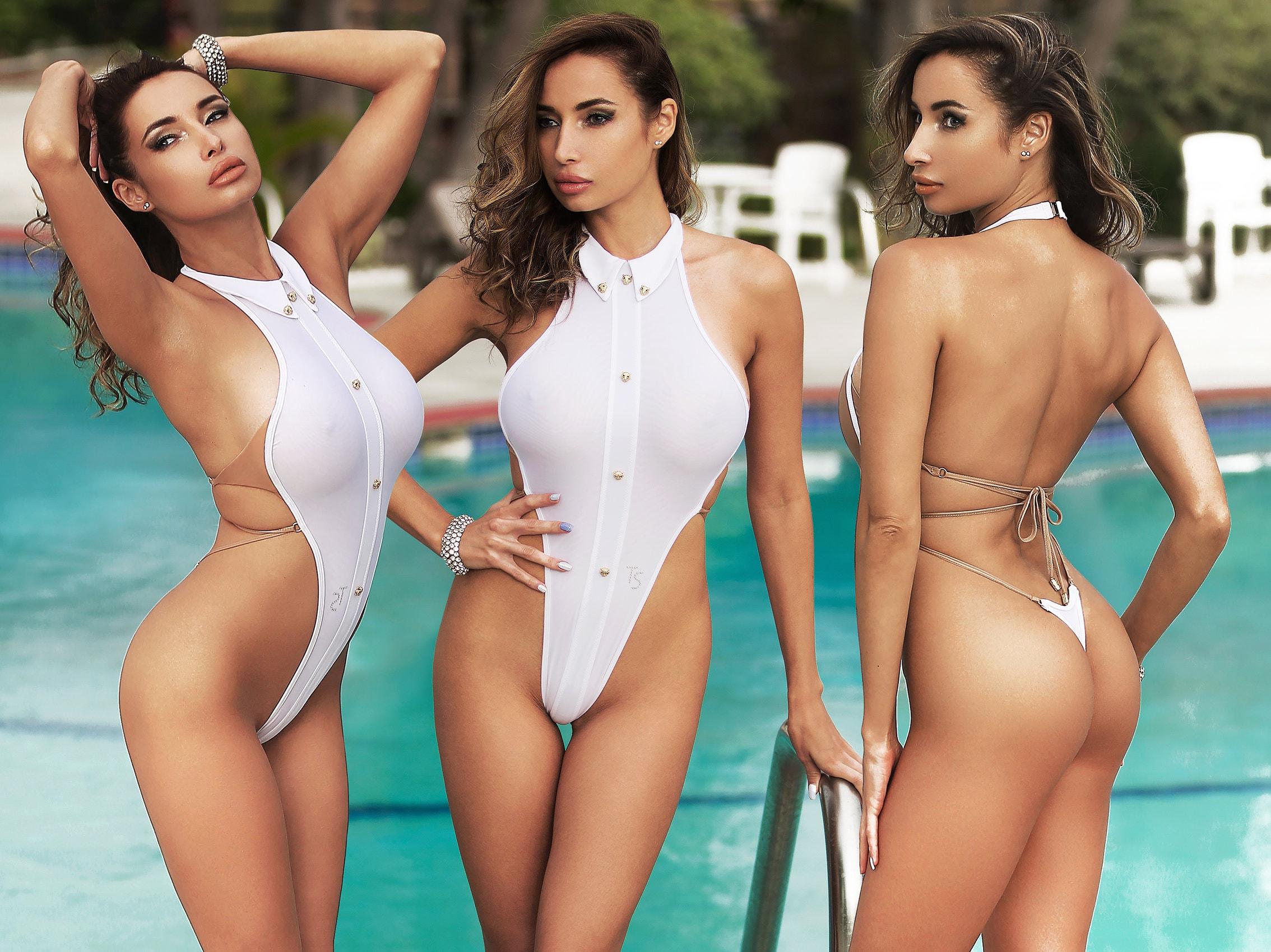 Hot bathing suit pics Erotic One Piece Swimsuit Bodysuit Bathing Suit Monokini Etsy