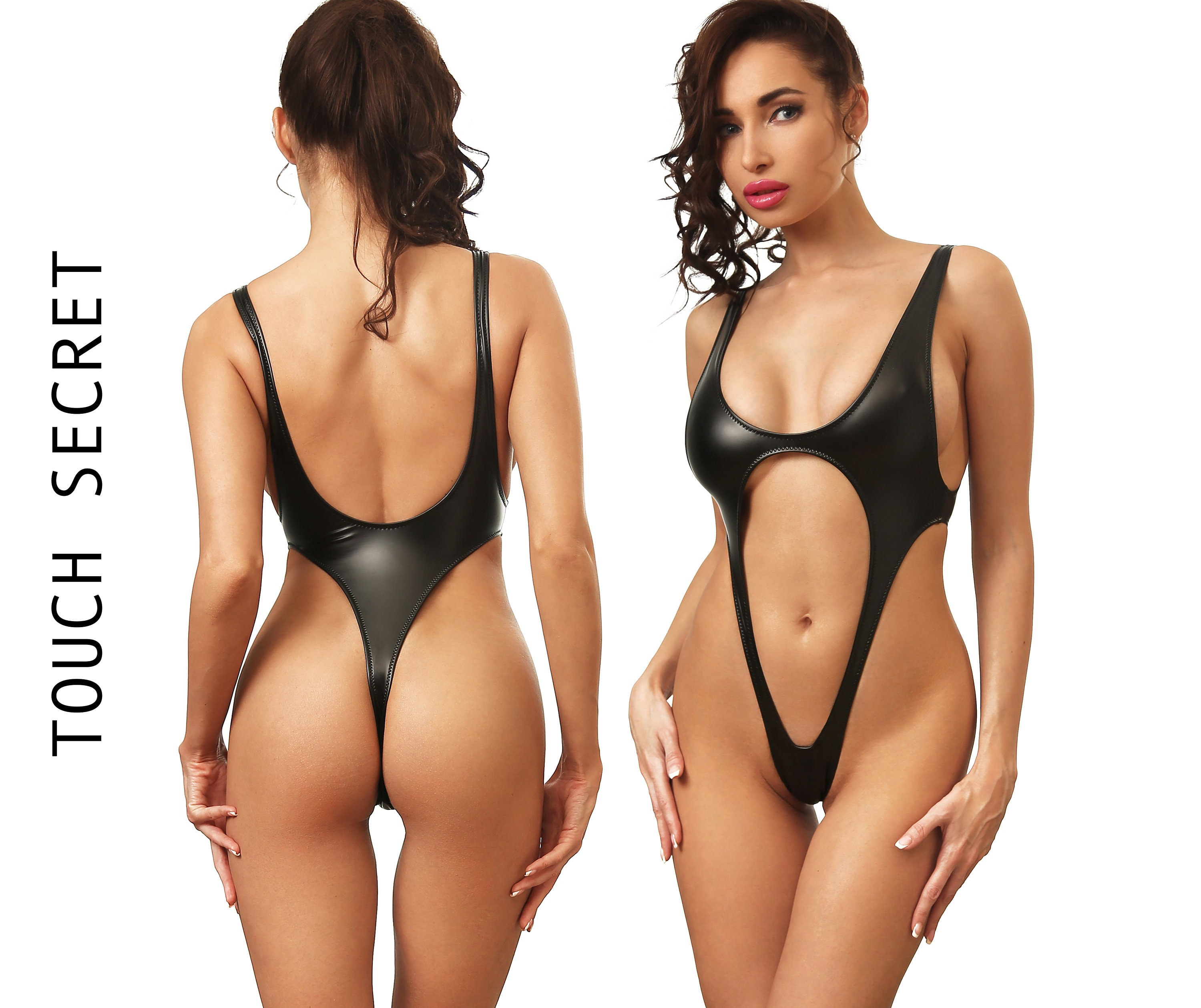 25da1eba9f Sexy one piece swimsuit Bodysuit thong Bathing suit Women