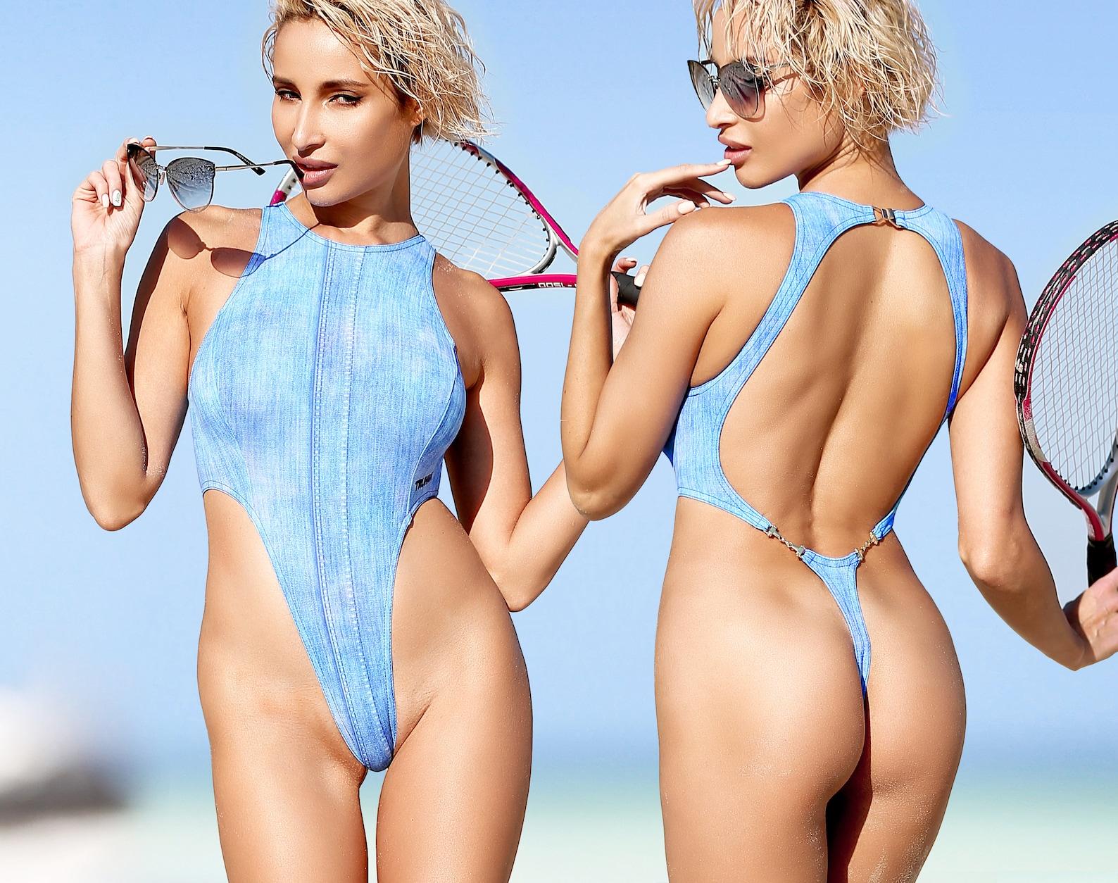 Jessica white's topless sand bikini photoshoot