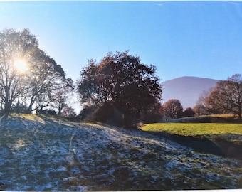 Malvern in Winter, fine art giclee mounted print (Landscape photograph)