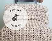 CROCHET PATTERN: Morro Bay Crochet Blanket Pattern. Thick Crochet Afghan Patterns.