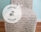 CROCHET PATTERN: Moonstone Beach Throw. Easy Chunky Crochet Blanket Patterns.