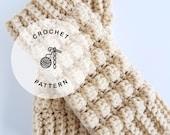 CROCHET PATTERN: Pebbles Texting Mittens.  Crochet fingerless glove pattern. Womens texting gloves.