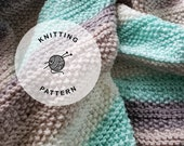 KNITTING PATTERN: Tide Pools Knitted Baby Blanket. Receiving Knit Blanket for Newborn.