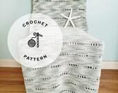 CROCHET PATTERN: Summer Sage Cotton Crochet Blanket. Light Crochet Beach Afghan Patterns.