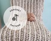 CROCHET PATTERN: Puget Sound Chunky Crochet Blanket. Crochet Cozy Beach Blanket Patterns.