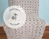 CROCHET PATTERN: Ventura Crochet Afghan. Crochet Blanket Patterns.