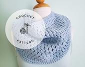 CROCHET PATTERN: Stepping Stone Cowl Crochet Pattern. Crocheted  Cozy Infinity Scarf Patterns.