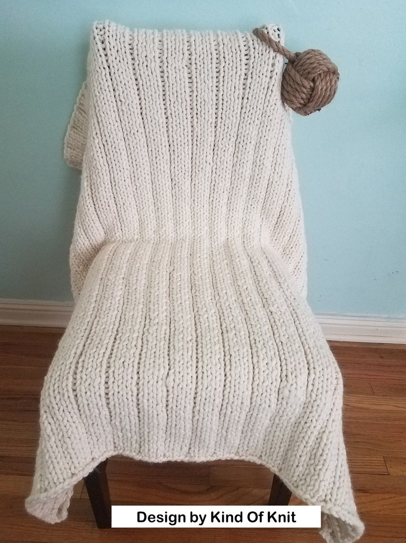 KNITTING PATTERN: Pacific Chunky Reversible Knit Lapghan ...