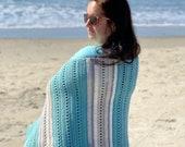 CROCHET PATTERN: Seabreeze Wrap Pattern, Crochet Scarf Pattern for Women, Crochet Shawl Patterns, Poncho Pattern