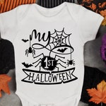 My first Halloween SVG, SVG files,Halloween SVG, Cricut files, Silhouette files, png files, sublimation designs, Baby onesies