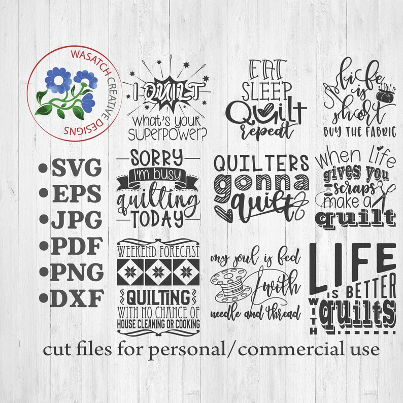 Quilters SVG Bundle Quilting svg cut file Sewing PNG image 0