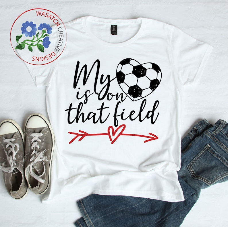 My heart is on that field SVG Cutting File soccer mom svg image 0