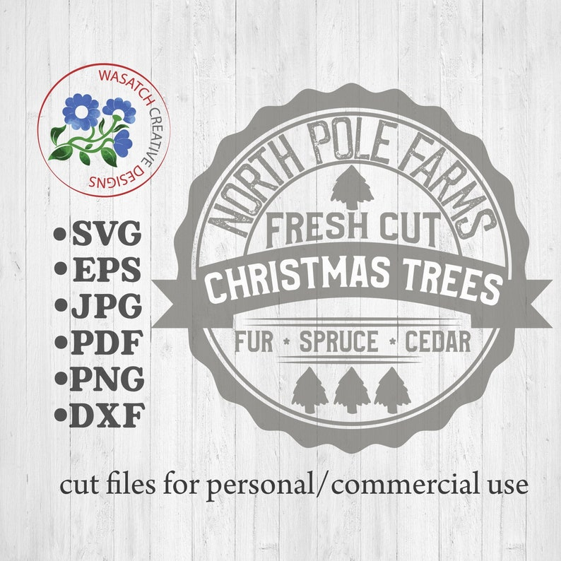 Christmas SVG  North Pole Farms  SVG DXF Eps Png Jpg Digital image 0