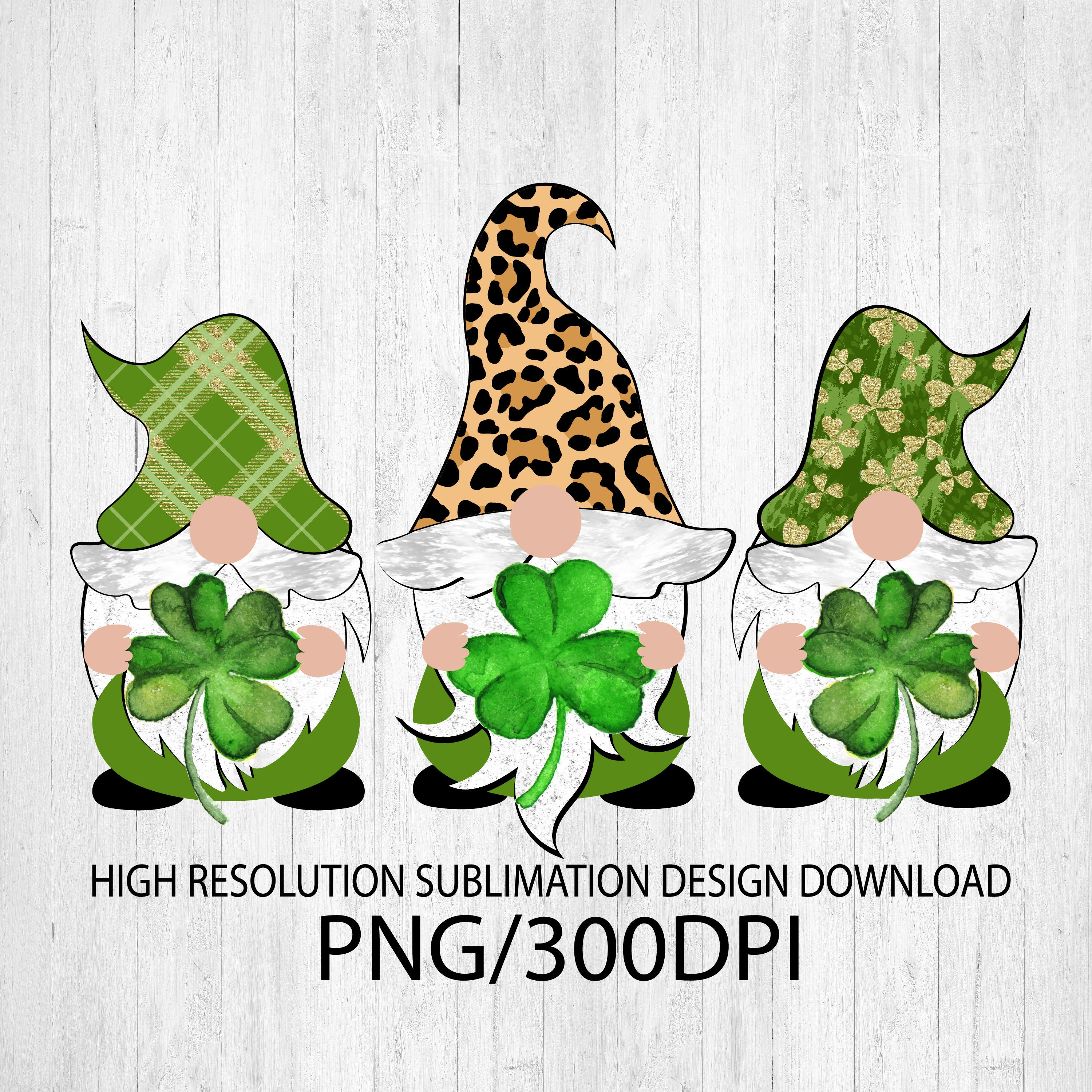Download St. Patrick's Day Gnomes PNG file for sublimation printing ...