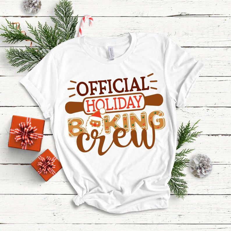 Christmas SVG  Holiday Baking Crew  SVG DXF Eps Png Jpg image 0