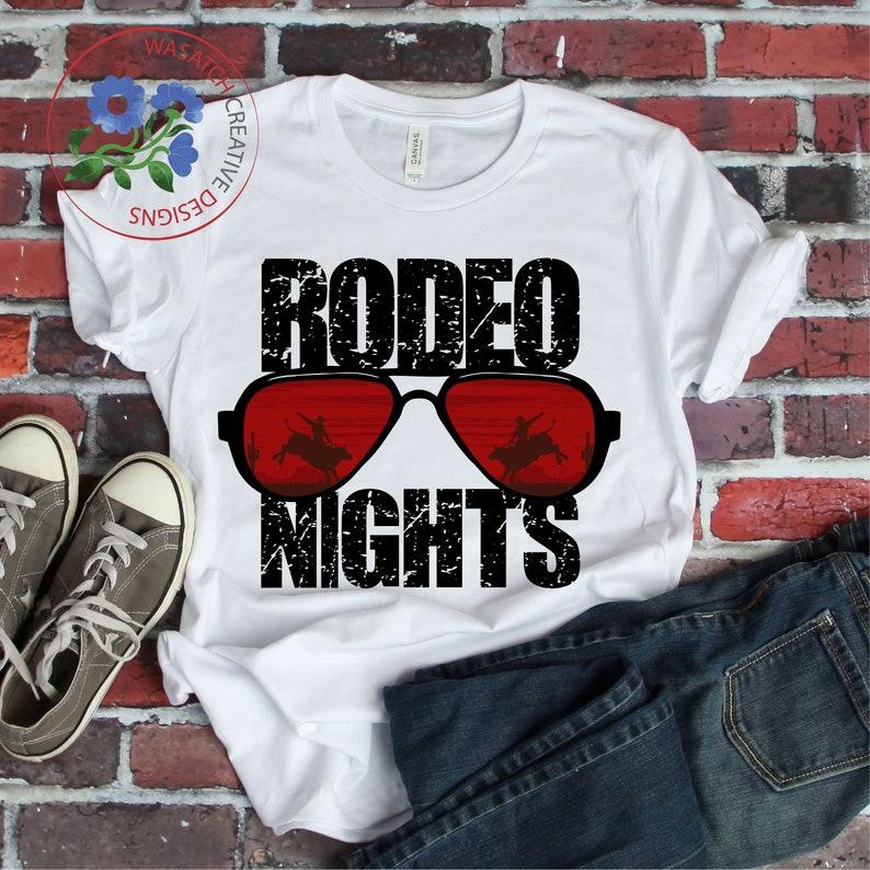 Rodeo Nights Sublimation Design PNG Download DTG printing  image 0