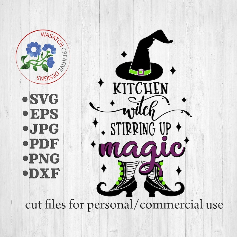 Kitchen Witch SVG filesHalloween SVG Cricut files image 0