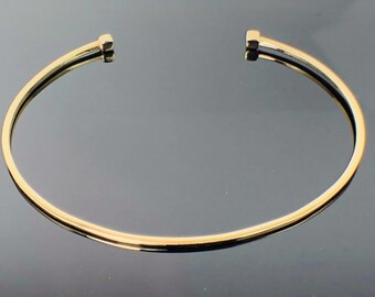 ae4d44d7376 14k Solid Gold Cube Bangle * 14k Solid Gold * Simple and Stylish Bangle * 14k  Solid Gold Cuff Bracelet * Free Shipping (USA)