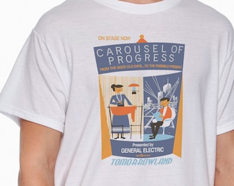 eb54d2985 WDW Vintage Carousel Of Progress Attraction Poster T-shirt!!